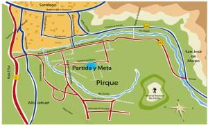 Circuito Santa Rita en la comuna de Pirqué