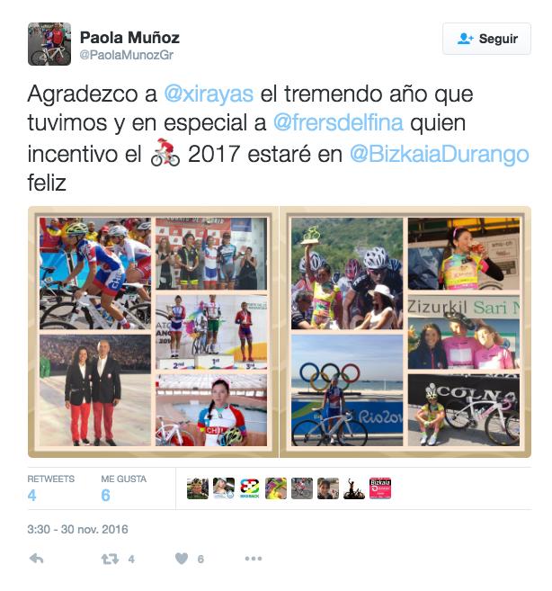 Tweets de Paola